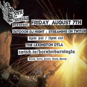 Outdoor DJ Night + Twitch Stream at The Lexington
